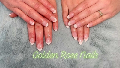 Golden Rose Nails